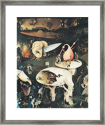 The Garden Of Earthly Delights Hell, Right Wing Of Triptych, C.1500 Oil On Panel See 322, 3425 Framed Print by Hieronymus Bosch