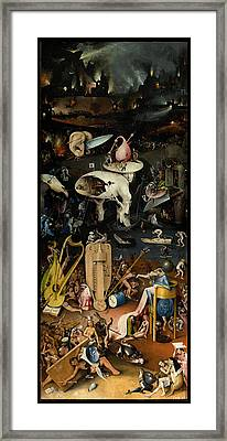 The Garden Of Earthly Delights. Right Panel Framed Print