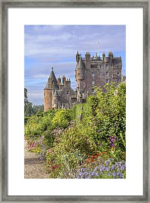 The Garden Of Glamis Castle Framed Print