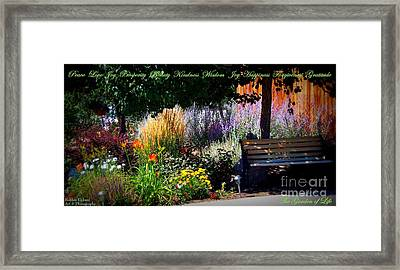 The Garden Of Life Framed Print