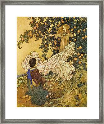 The Garden Of Paradise IIi Framed Print by Edmund Dulac