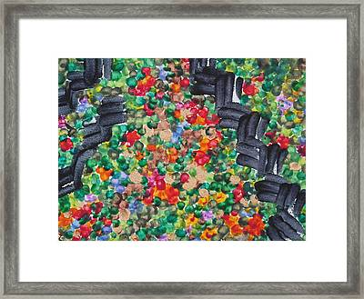 Framed Print featuring the painting The Garden Path by Michele Myers