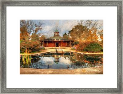The Garden Pavilion Framed Print by Darren Fisher