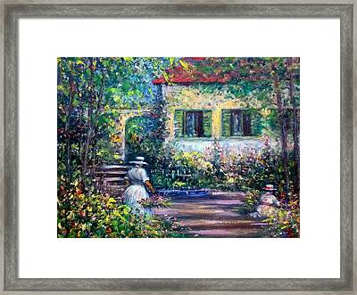 The Garden Framed Print by Philip Corley