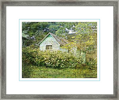 The Garden Shed Framed Print by Dianne  Lacourciere