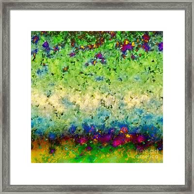 Framed Print featuring the digital art The Garden Wall by Darla Wood
