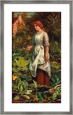 The Gardeners Daughter Framed Print by Arthur Hughes