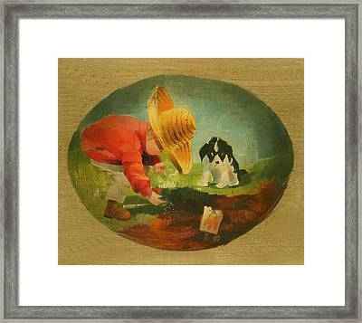 The Gardeners Framed Print by Doreta Y Boyd