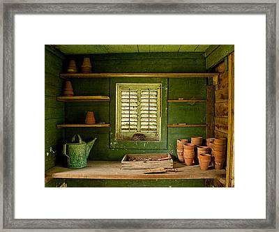 The Gardener's Shed Framed Print