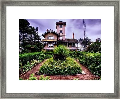 The Gardens Of Hereford Inlet Lighthouse Framed Print by Mark Miller