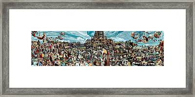The Gardens Of Memory - Triptych -  Framed Print by Richard Meric