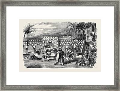 The Gardens Of The Palace Of The Dey Of Algiers A Scene Framed Print