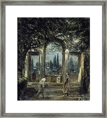 The Gardens Of The Villa Medici In Rome Framed Print
