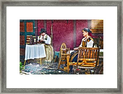 The Garment District Framed Print by Camille Lopez