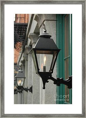 The Gas Light Framed Print