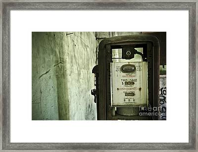 The Gas Pump  Framed Print by Jessica Berlin