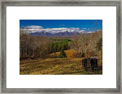 The Gas Tank Winter View Framed Print by Sherri Quick