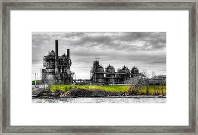 The Gasworks Park On Lake Union - Seattle Washignton Framed Print by David Patterson