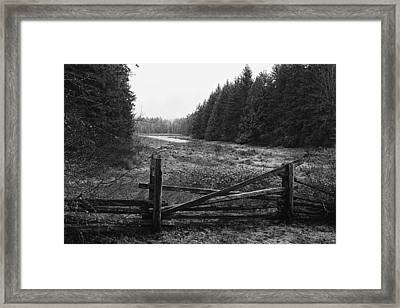 The Gate In Black And White Framed Print by Lawrence Christopher