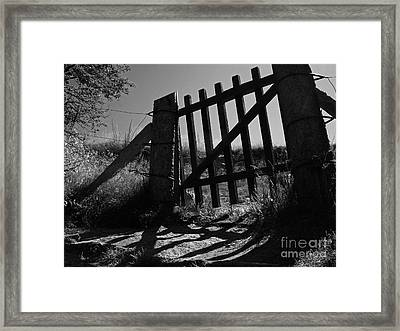Framed Print featuring the photograph The Gate by Inge Riis McDonald