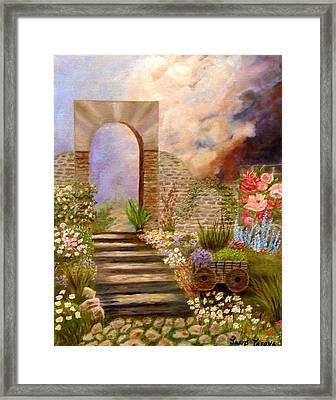 The Gate Framed Print by Janis  Tafoya