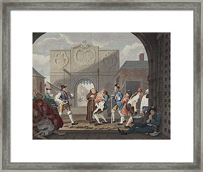 The Gate Of Calais, Or O The Roast Beef Framed Print by William Hogarth
