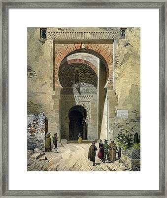 The Gate Of Justice Framed Print by Leon Auguste Asselineau