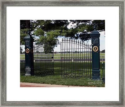 The Gate Framed Print by Roger Potts