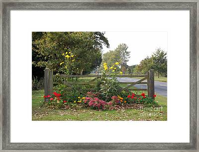 The Gate To Nowhere Framed Print