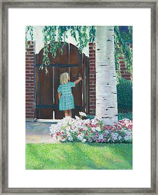 To The Garden Framed Print