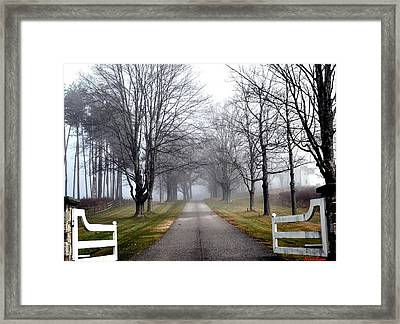 The Gates Are Always Open Framed Print by Nina-Rosa Duddy