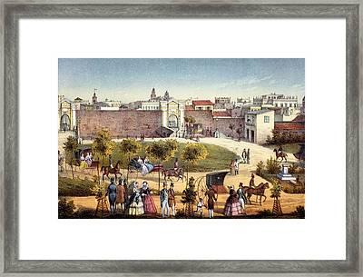 The Gates Of Monseratte, Havana, Cuba Framed Print by Federico Mialhe