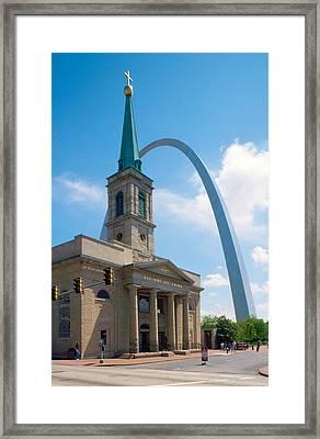 The Gateway Arch Saint Louis Framed Print by Unknow Artist