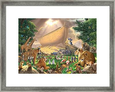 The Gathering Framed Print by Chris Heitt