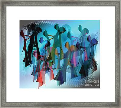Framed Print featuring the digital art The Gathering by Iris Gelbart