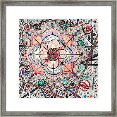 The Gathering Of Colors Framed Print by Anita Lewis