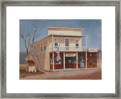 The Gathering Place Framed Print by Tony Caviston