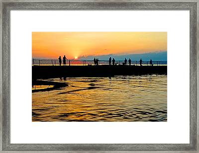The Gathering Spot Framed Print by Frozen in Time Fine Art Photography