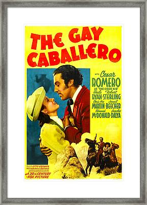 The Gay Caballero, Aka Ghost Of The Framed Print