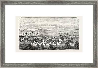 The Geelong And Melbourne Railway, Geelong Terminus Framed Print by Australian School