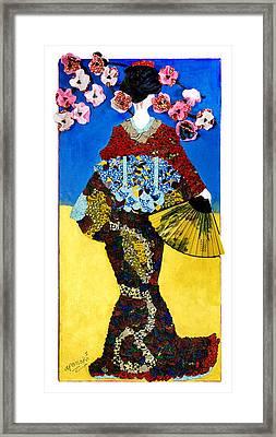 The Geisha Framed Print by Apanaki Temitayo M