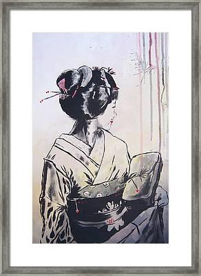 The Geisha Framed Print by Michael Leporati