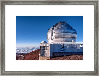 Framed Print featuring the photograph The Gemini Observatory by Jim Thompson