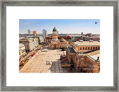 The Gendarmenmarkt And German Cathedral In Berlin Framed Print by Michal Bednarek