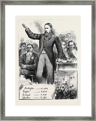 The General Election Lord Hartington At Over Darwen Framed Print