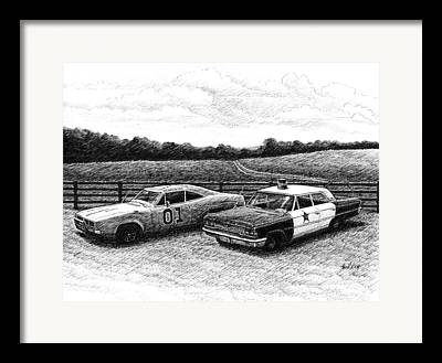 Replica Cars From Television Shows Framed Prints