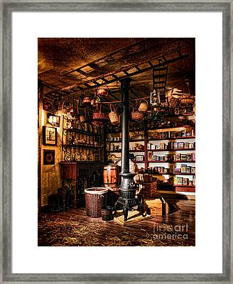 The General Store In My Basement Framed Print by Olivier Le Queinec