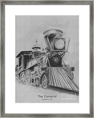 The General - Train - Big Shanty Kennesaw Ga Framed Print