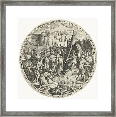 The Generosity Of Scipio, Zacharias Dolendo Framed Print by Zacharias Dolendo And Hendrick Hondius (i)