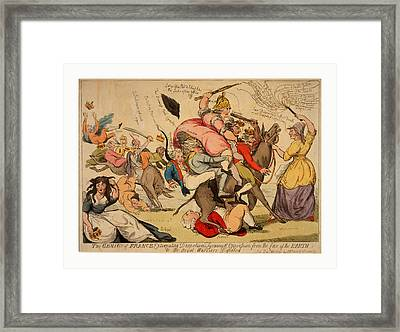 The Genius Of France Extirpating Despotism Tyranny Framed Print by Chinese School